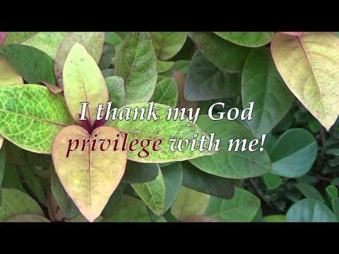 I Thank My God