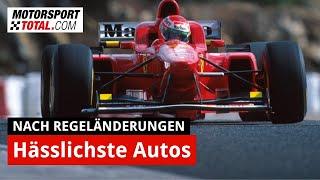 Top 10: Die hässlichsten Formel-1-Autos nach Regeländerungen