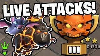 """LIVE CLAN WAR LEAGUE ATTACKS WITH BAT LALO! - """"Clash of Clans"""""""