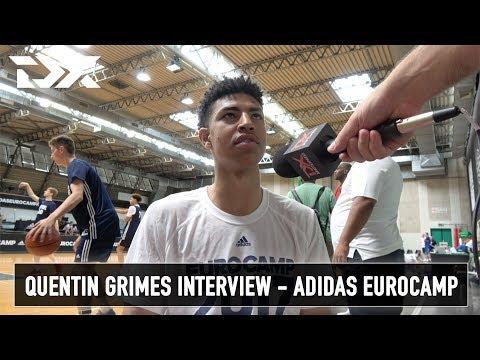 Quentin Grimes Interview - Adidas Eurocamp