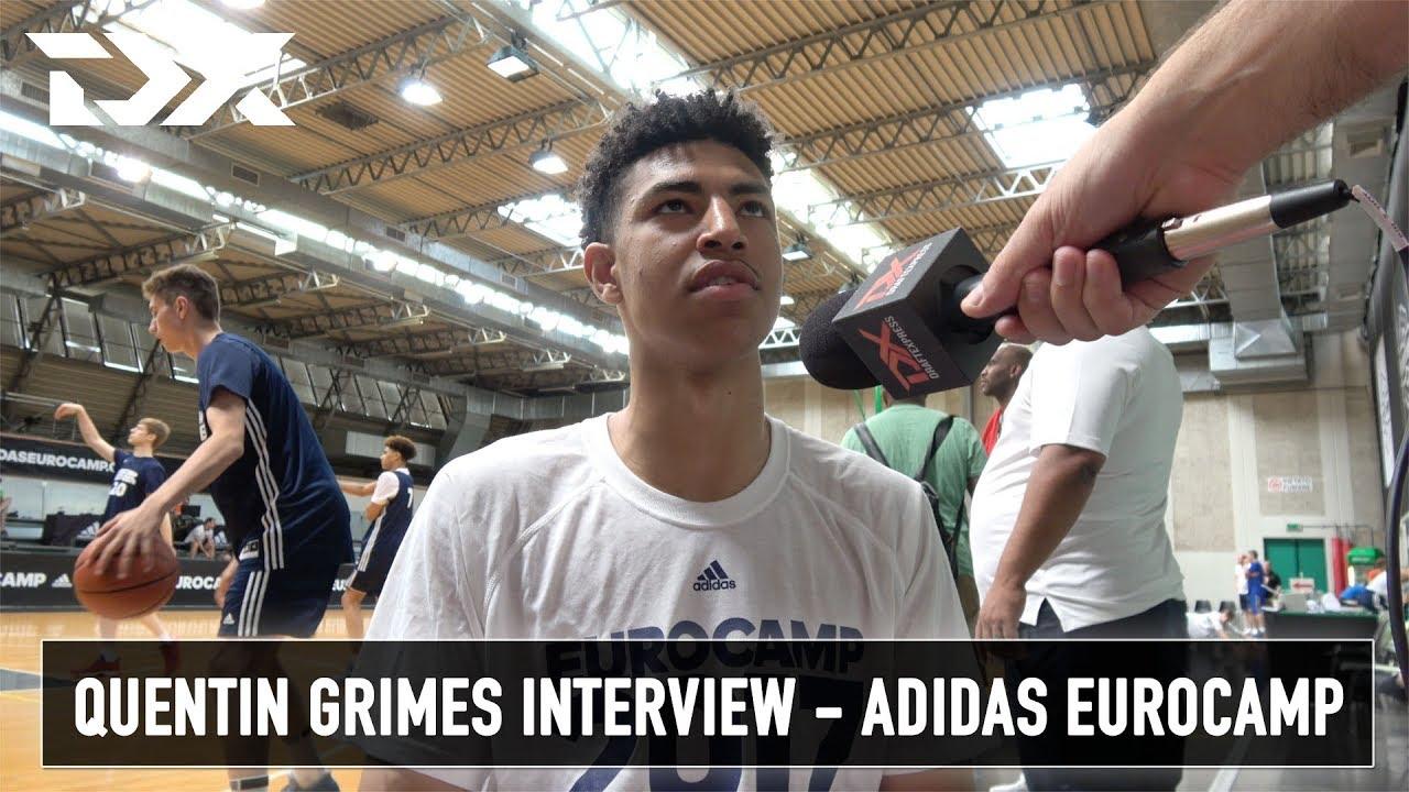 Quentin Grimes Interview Adidas Eurocamp