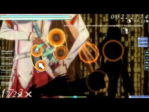 Osu! Sword Art Online OP1 - Crossing Field (Insane 95% Rank S)