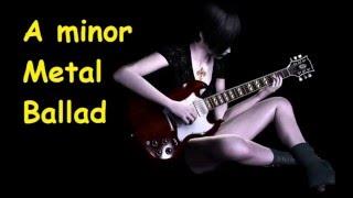 Backing Track A Minor Metal Ballad Am