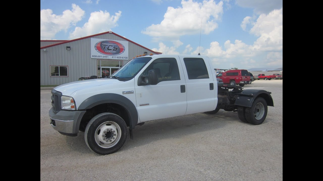 2005 Ford F450 Cab & Chassis W Fifth Wheel NON RUNNING