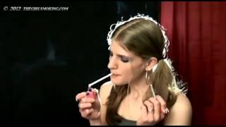 girl smoking 2 virginia slims at same time - thegirlsmoking