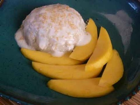 Thai Sticky Rice with Mango – Thai Dessert Recipe Video