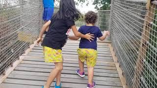 Irmak Merve sallanan köprüden korktukları için geçemiyorlar Resimi