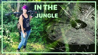 Jungle Metal Detecting w. SheDetector | Spiders, Snakes, and Gators