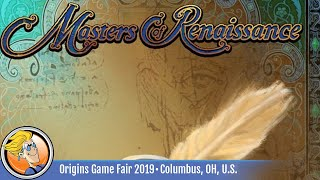 Masters of Renaissance:  Lorenzo Il Magnifico – The Card Game  - overview at Origins Game Fair 2019