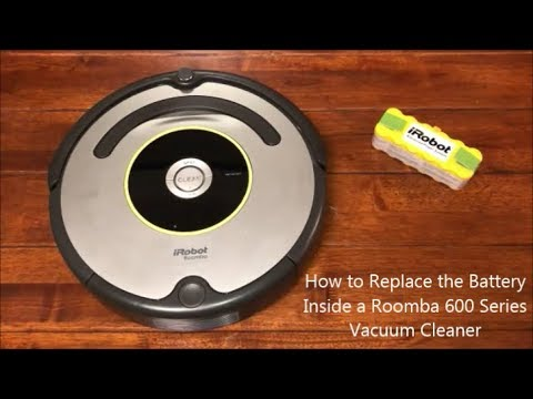 How to Replace the Battery Inside a Roomba 600 Series Vacuum Cleaner