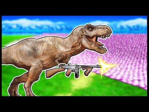 MACHINE GUN T-REX ARMY! - UEBS -Ultimate Epic Battle Simulator [UEBS GAMEPLAY]