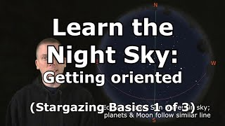 Stargazing Basics 1: Lean how get oriented in the night sky for stargazing