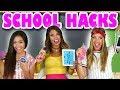 School Hacks  2017 DIY School Supplies. Totally TV