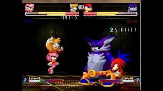 SONIC FREEDOM FIGHTRES 2 MATCH 8# TAILS AND AMY VS KNUCKLES AND BIG