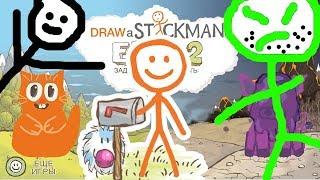 ЗЛАЯ СВИНКА ПОГОНЯ в игре СТИКМЕН Draw a Stickman EPIC 2 говорящий КОТ ДЖЕМ играет детский летсплей