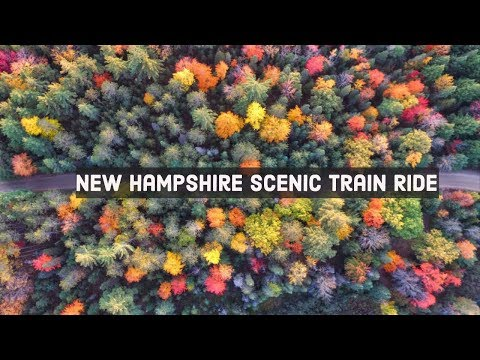 CONWAY SCENIC RAILROAD NOTCH TRAIN (4K) - New Hampshire Scenic Fall Train Ride | North Conway
