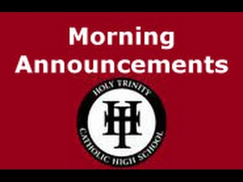Holy Trinity Catholic High School (Simcoe, Ontario) Live Stream 8:55am School Days