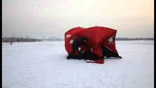 Зимняя рыболовная палатка FATFISH 9416. Обзор(Купил зимнюю палатку Eskimo FATFISH 9416 для рыбалки. Планирую в ней рыбачить, а так же использовать в качестве