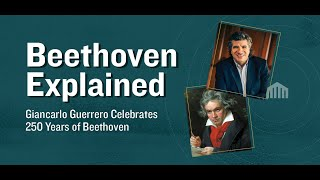 Tonight, music director giancarlo guerrero continues his beethoven explained series with a discussion on beethoven's sixth, also know as the pastoral symphon...