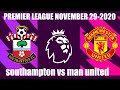 Southampton vs Manchester United | Premier League Today November 29, 2020 | FIFA 21
