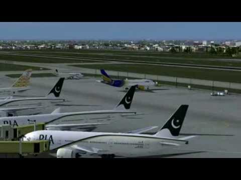 shaheen air a320 take off to lahore airport pakistan