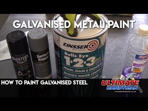 How to paint Galvanised steel