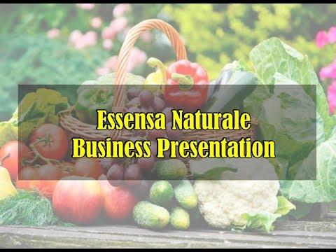 Essensa Naturale Online Business Presentation