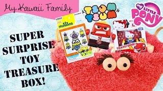 Super Surprise TOY Treasure Box Ep9! Disney Tsum Tsum, Minions, Inside Out, Hello Kitty, MLP