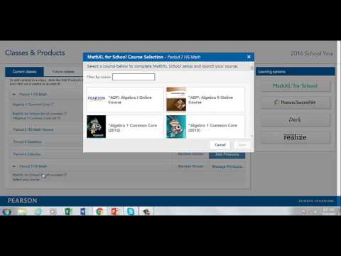 adding mathxl products to a course in easy bridge youtube