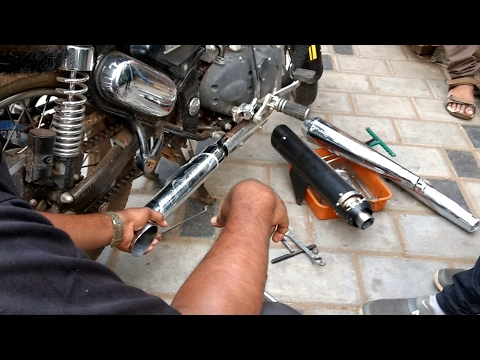 Harley Exhaust for Royal Enfield | Check the sound of all the exhausts I tried.