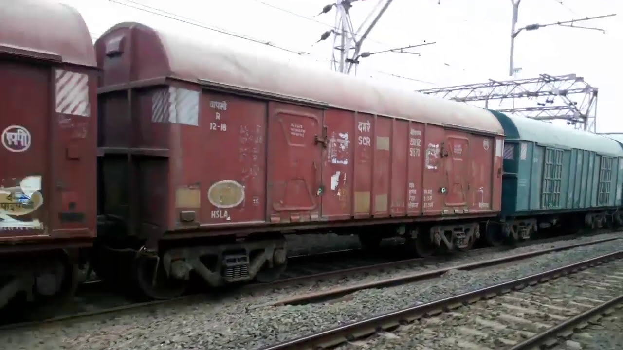 Longest Maal Gaadi Indian Rail ( Indian Luggage Train )