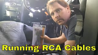 How to run rca cables in a car (ford mondeo mk3 st220)