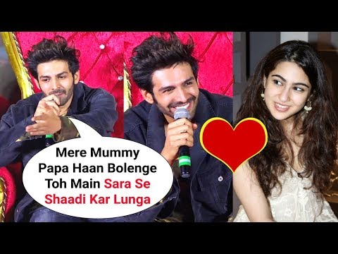 Kartik Aryaan BLUSHES When Asked About Marriage With Sara Ali Khan At Luka Chuppi Trailer Launch