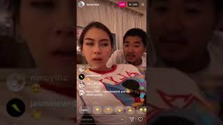 Laurentsai ローレンサイ、ゲイ友とインスタライブwww  instagram live with her gay friend answering questions 1