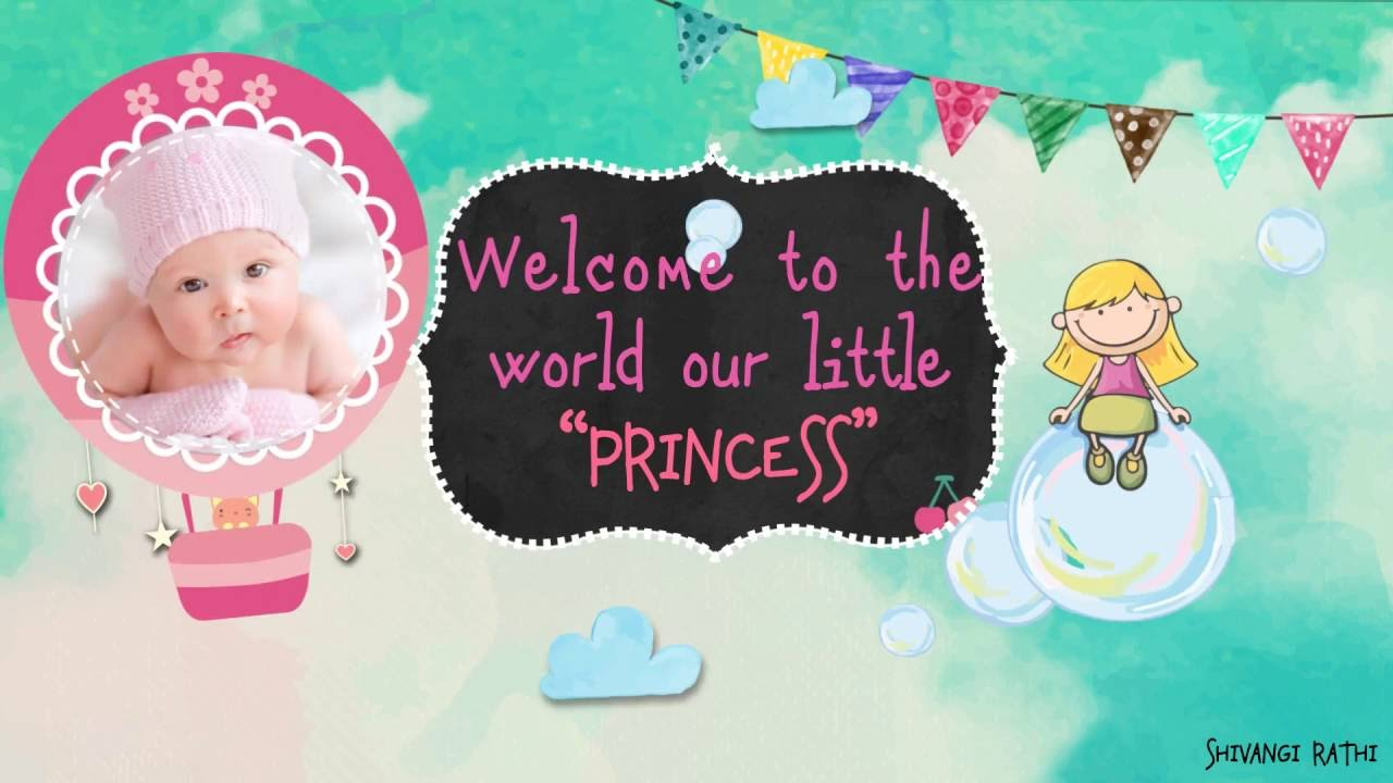 Welcome Baby Girl Version After Effects Template Youtube