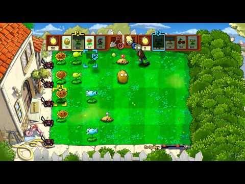 Plants vs Zombies Xbox 360 Co-op Challenge Part 1