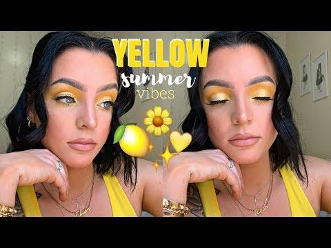 Yellow Makeup Tutorial | ItsMyRayeRaye BH Cosmetics Palette | Alison Epp thumbnail