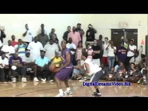 Kobe Bryant Drop 45 points at The Drew League Game Highlights