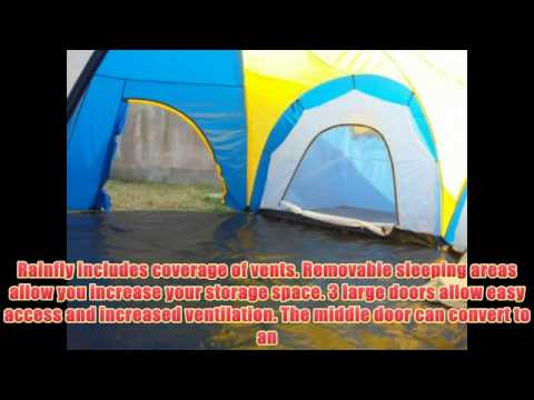 sc 1 st  YouTube & Peaktop 3 Rooms 8 Person Dome Camping Tent Blue / Yellow - YouTube
