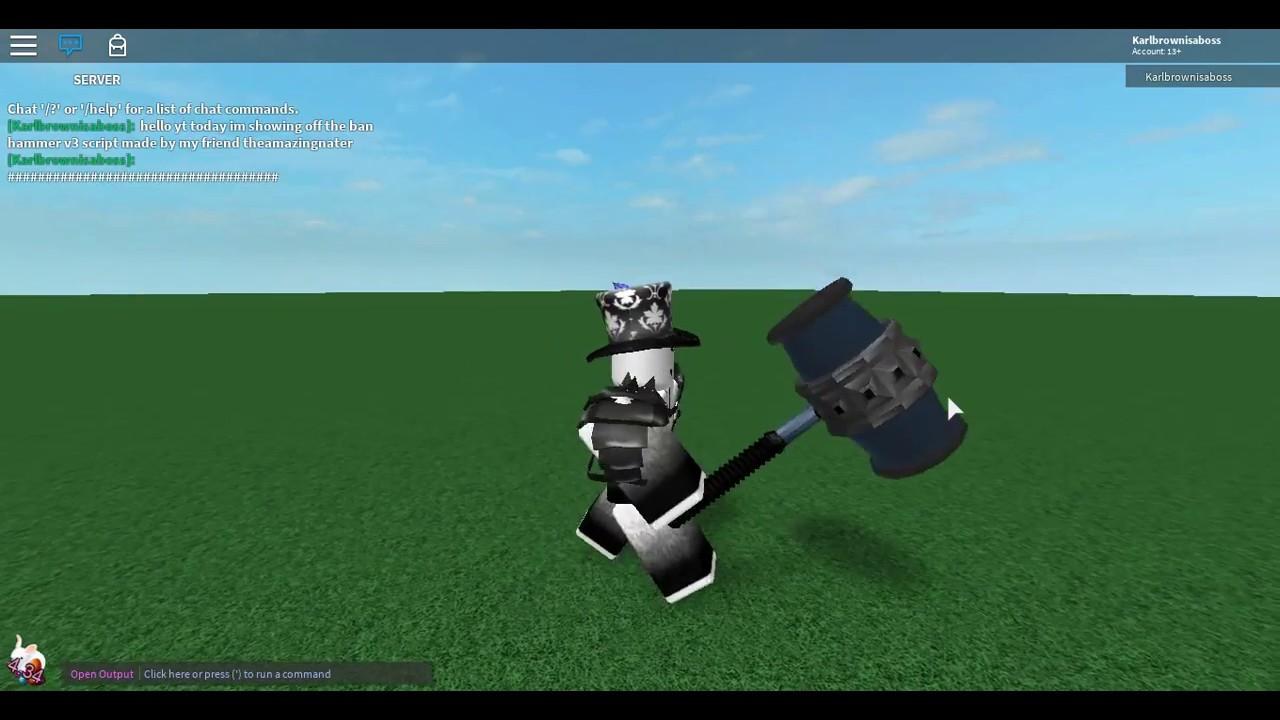 Roblox Ban Hammer V3 Script Youtube - roblox ban hammer v3 script