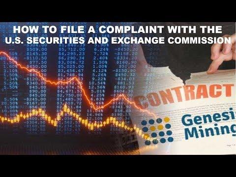 #sec #genesis mining GENESIS MINING - HOWTOFILE ACOMPLAINTWITH THE S.E.C.