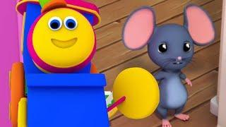 Bob der Zug | Hickory Dickory Dock | Uhr und Maus Reim | Top-Deutsch Reime | German Rhymes For Kids thumbnail