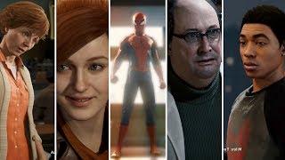Spider man Ps4 2018 All Cut Scenes - Full Movie - Including Secret Endings