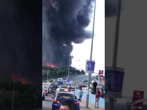 Tuzla Deri Sanayi de Fabrika Yangın