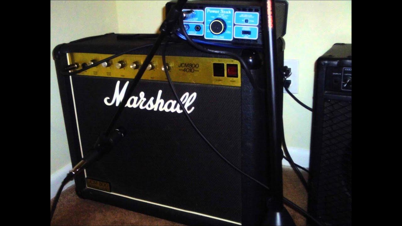 Marshall With Power Soak Youtube