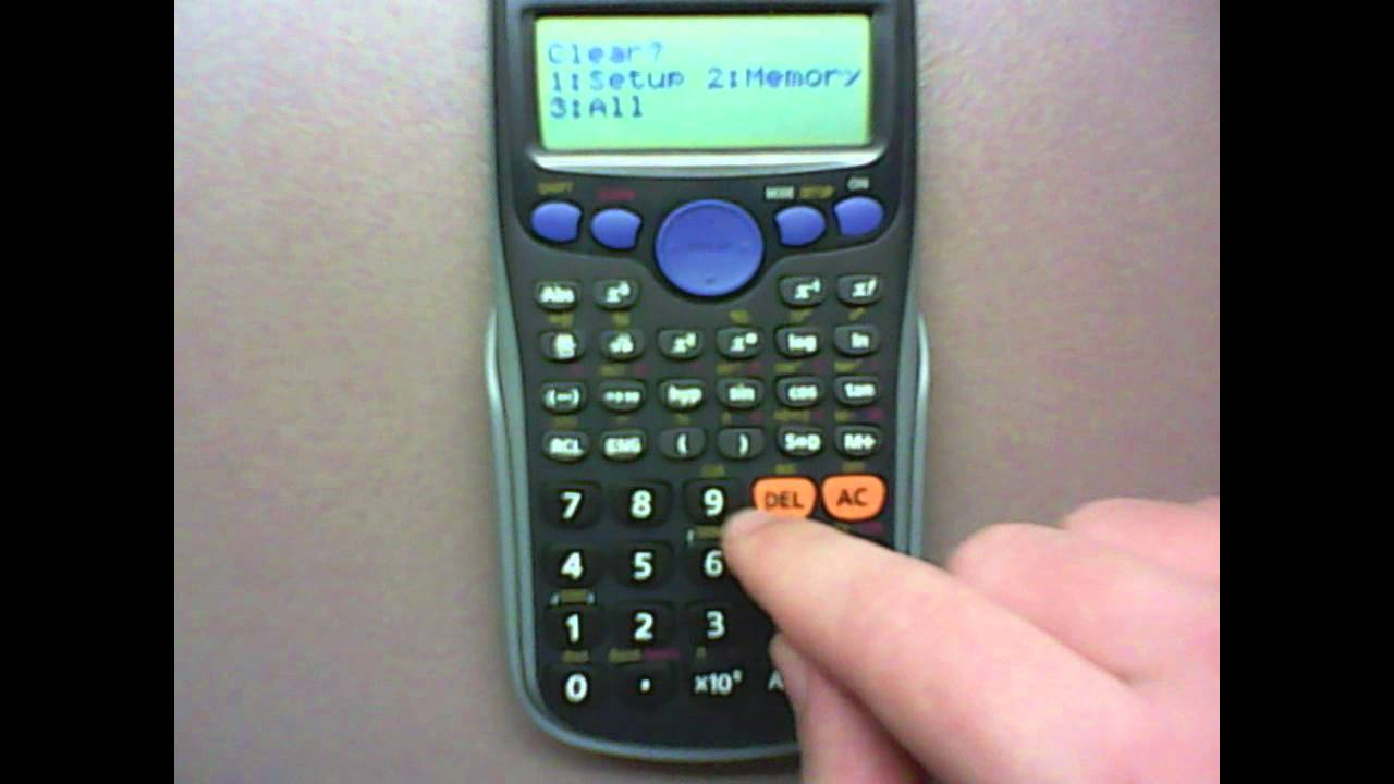 How to Reset your casio Calculator in 15 Seconds - YouTube