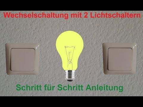 Elektroinstallation: Wechselschaltung verdrahten und anschließen ...