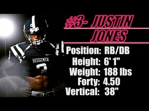 "2019- Street Light Recruiting- RB/DB- Justin Jones (6' 1""- 188- Forty- 4.50) Bessemer Academy (AL)"