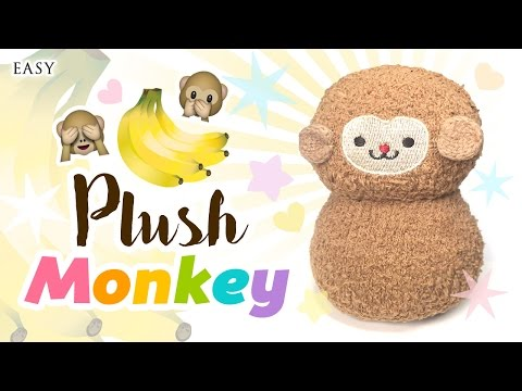 DIY Monkey Plush - Make A Cute Monkey For Just $2.50 Using SOCKS!!