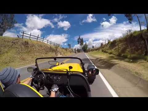 Driving Caterham : Westfield : Lotus 7 in Colombia Guasca commentary